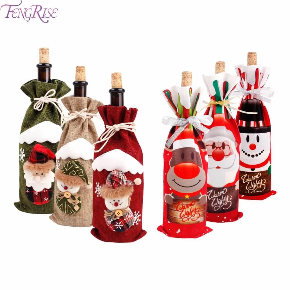 Świąteczne etui na butelkę