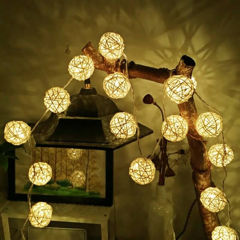 Świecące kule LED na Święta
