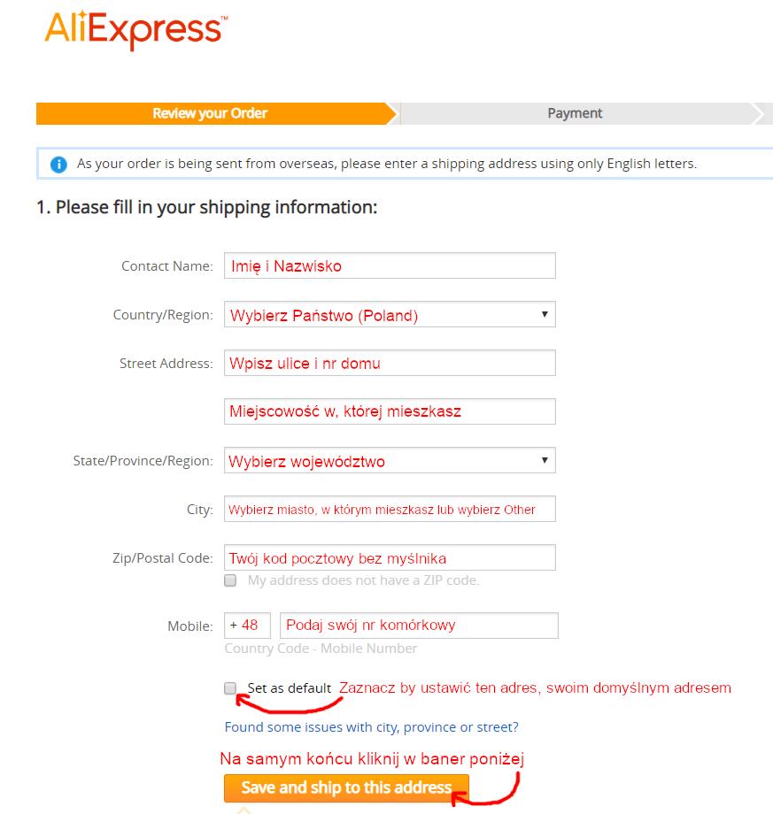 wpisywanie-adresu-AliExpress