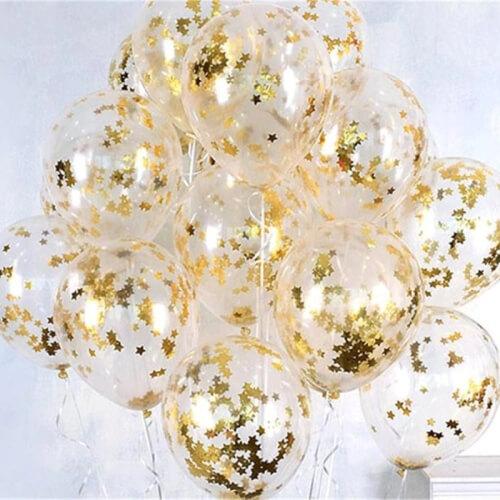 Zestaw balonów z konfetti na urodziny lub Sylwestra