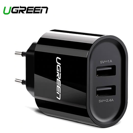 Mocna ładowarka na dwa USB Ugreen 3.4A
