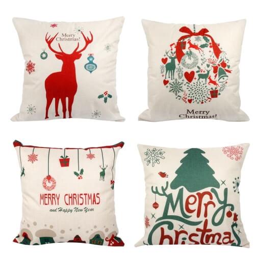 Świąteczne poszewki na poduszki