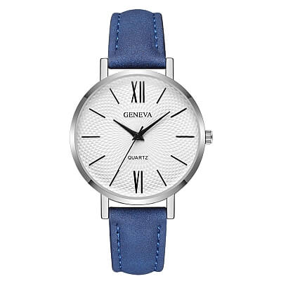 Modny damski skórzany zegarek