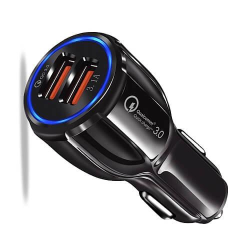 Ładowarka samochodowa do telefonu na 2 USB