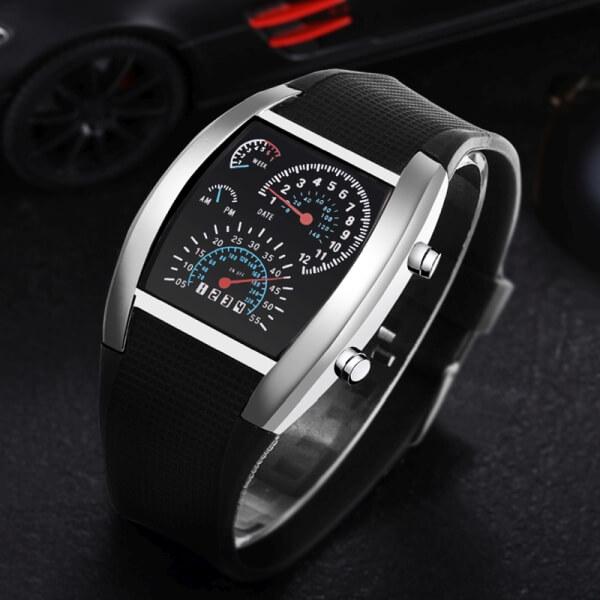 meski-zegarek-elektroniczny-tarcza-samochodowa