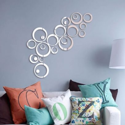 Naklejki akrylowe na ścianę – lustro