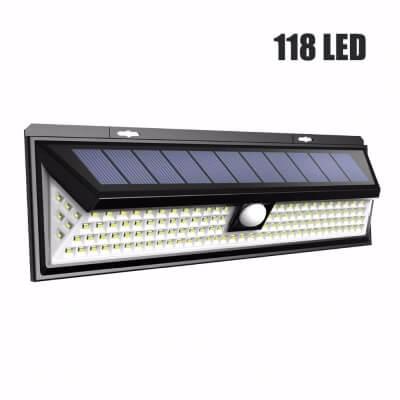 Lampa Solarna z czujnikiem ruchu 118 LED