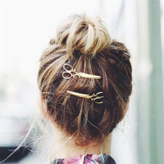 Spinka do włosów jak nożyczki
