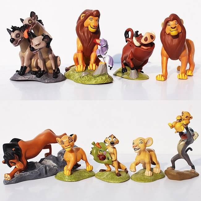 Król Lew figurki – Simba, Nala, Skaza, Mufasa