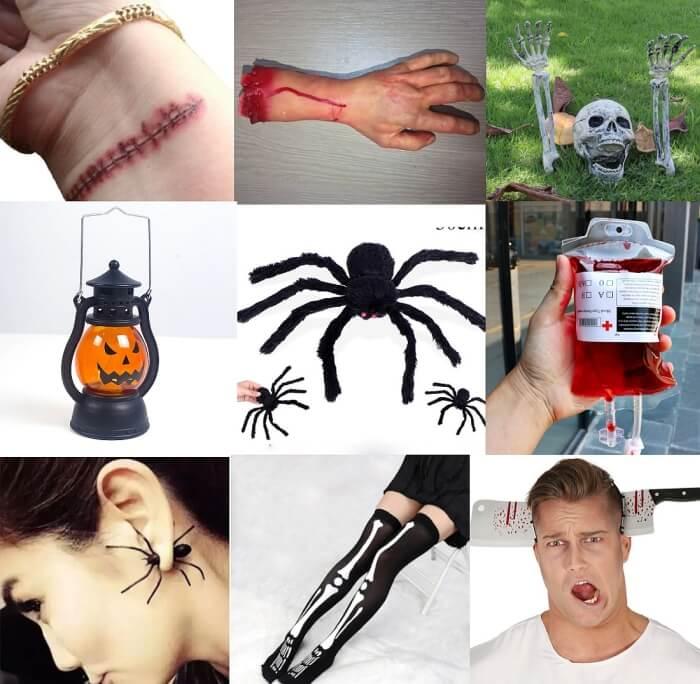 Zestaw przedmiotów na Halloween