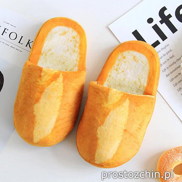 Kapcie w kształcie bochenka chleba