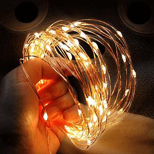 Lampki ledowe z klipsami na baterie lub USB