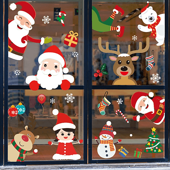 Naklejki Swiateczne na okno AliExpress