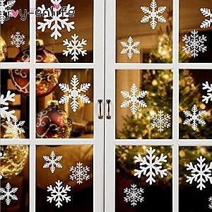 27 Naklejek na okno – Płatki Śniegu