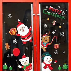 Zestaw Świątecznych naklejek na okno