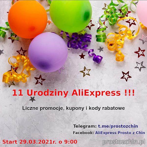 11 Urodziny AliExpress – promocje, kody rabatowe i kupony