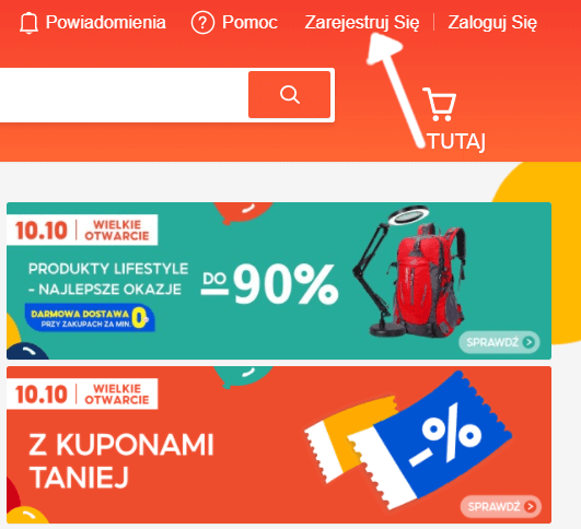 Shopee-rejestracja-nowe-konto